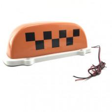 Знак TАКСИ шашечкиTA-007 на магните с подсветкой (оранжевый)