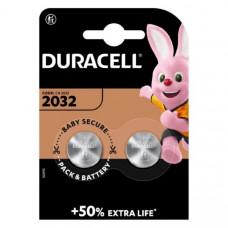 Батарейка DURACELL CR 2032  BL2  (10/100)