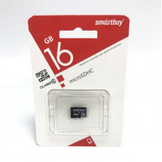 Карта памяти MicroSD Smart Buy 16GB Сlass 10  без адаптера