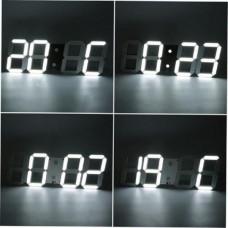 Часы настольные VST 883-6 бел.цифры (5В) (без блока)/30/60 Размер цифр (ВхШ): 7,7х4,5 см. Габаритные размеры (ВхШхГ): 8,5х23х4 см