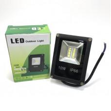 Прожектор светодиодный 10W IP66 6500К-экономим свет на даче! (SMD-LED 14 кристаллов, размер 9х3,5х11см)