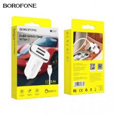 АЗУ-2 USB BOROFONE BZ12 Type-C, 2.4А, 1м, белый