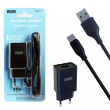 СЗУ-USB Type-C MRM MR21C 5V 2.1A 1.2м, черный