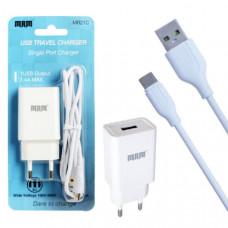 СЗУ-USB Type-C MRM MR21C 5V 2.1A 1.2м, белый