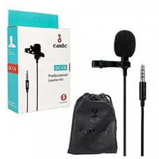 Микрофон проводной Candc DC-C6 1 mic 6м, черный, для ноутбука