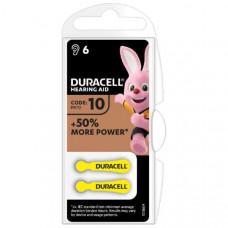 Батарейка DURACELL DA10 PB-6  (для слуховых аппаратов)