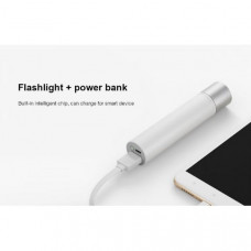 Фонарик-Power Bank XiaoMi Portable Electric Torch (LPB01ZM) Silver