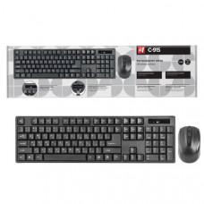 Набор беспроводной клавиатура + мышь, DEFENDER C-915, черный, полноразмерный, беспроводной. Количество кнопок: 3 + колесо-кнопка. Разрешение: 800/1000/1200 dpi. Питание: 2 х AAA (мышь). Питание: 1 х AA (клавиатура). Индикатор окончания заряда батареи. Кла