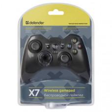 Геймпад беспроводной Defender X7 USB, Bluetooth, Android, Li-Ion, 17 кн., беспроводной, проводной, Поддерживаемые платформы: PlayStation 3, Android 3.2 и выше, ПК (Dinput и Xinput), Интерфейс: Bluetooth, USB 2.0, Поддержка Xinput-игр: есть, Количество кно