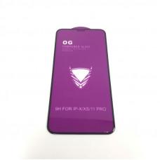 Стекло защитное O.G Full Glass iPhone X/XS/11Pro Black (25/1, 0.15mm, техпак)
