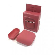 Чехол силиконовый для AirPods 2 Silicone Case Crimson, Soft-Touch (противоударный, мягкий)