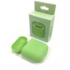 Чехол силиконовый для AirPods 2 Silicone Case Spearmint, Soft-Touch (противоударный, мягкий)