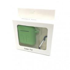 Чехол силиконовый для AirPods (противоударный, мягкий) Зеленый