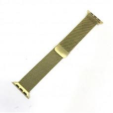 Браслет плетеный металлический для Apple Watch 38/40мм, цвет Gold (Milanese loop)