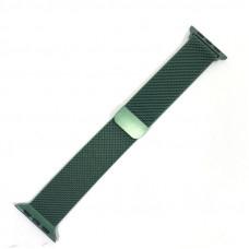 Браслет плетеный металлический для Apple Watch 38/40мм, цвет Green (Milanese loop)