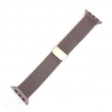 Браслет плетеный металлический для Apple Watch 38/40мм, цвет Rose gold (Milanese loop)