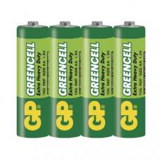 Батарейка GP 15G/R6 OS4 GREENCELL - zinc /4/40/200/1000/