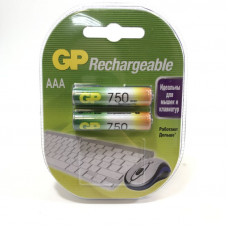 Аккумулятор GP R03-75AAAHC (750mAh) BL2 -/2/20/28