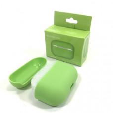 Чехол силиконовый для AirPods Pro Silicone Case Grass Green, Soft-Touch (противоударный, мягкий)