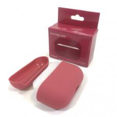 Чехол силиконовый для AirPods Pro Silicone Case Crimson, Soft-Touch (противоударный, мягкий)