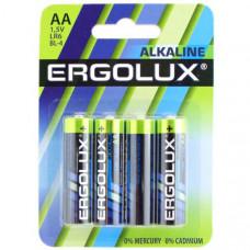 Батарейка Ergolux LR6 Alkaline BL-4 (батарейка,1.5В) - alc /40 /720