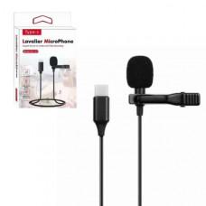 Микрофон GL-121 Lavalier Type-C длина на кабеля 1,5м, цвет черный (предназначен для профессиональной записи голоса и подключается к различным устройствам: экшен-камера, смартфон, разные виды фото и видеоаппаратуры.
