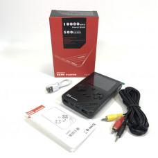 Игровая приставка Pocket Game Player 500 in 1 c АКБ 10000 MaH черный (М) 500 игр, кабель 2RCA+AUX, кабель microUSB, защитная пленка на экран, разъем AUX, разъем 2USB, 3,0-дюймовый полноцветный экран.   Возможность играть по телевизору.  Функция подсветки