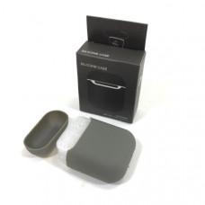 Чехол силиконовый для AirPods 2 Silicone Case Lavanda Gray, Soft-Touch (противоударный, мягкий)