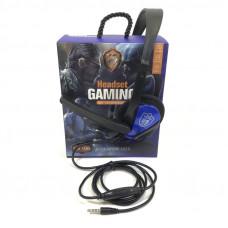 Гарнитура проводная полноразмерная GM-006 Black-Blue (Jack 4Pin, кабель 1,2м)