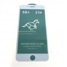 Стекло защитное Horse iPhone 6/6S 21H White