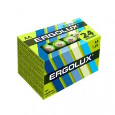 Батарейка Ergolux LR06 Alkaline BP-24 (24/240) (кратно 24 шт)