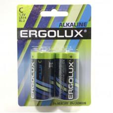 Батарейка Ergolux LR14 BL-2 (24/480)