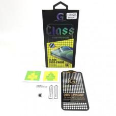 Стекло защитное G.ONE DUST-PROOF iPhone 12 Mini 5.4 5D в упаковке, черная рамка (с защитой динамика, закругленные края)