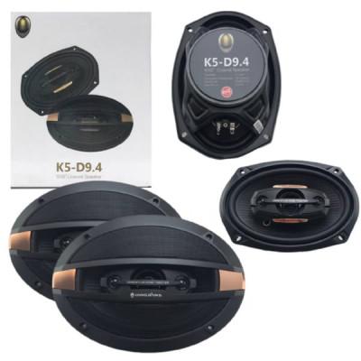 Акустическая система автомобильная K5-D9.4 6x9 (16x23см) Тип акустики Коаксиальные Тип динамика Твитеры (ВЧ) Диаметр (ДхШ) 16 x 23 см (6 x 9 дюймов) Номинальная мощность 90 Вт Тип сабвуфера Пассивный Частотная характеристика: 45-20 кГц Чувствительность: 8