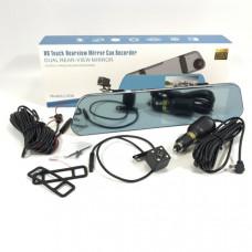Видеорегистратор + зеркало с камерой заднего вида L1038, 5,18-сенсорный экран, (TF 32GB, FullHD 1080P,12-24V,2A,JPEG, AVI, угол обзора 140)