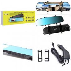 Видеорегистратор зеркало TDS TS-CAR47 Дисплей 3.2 TFT  Разрешение камеры (MAX): 1920х1080 Количество камер: 1 Тип крепления: зеркало Цвет: черный Размер: 2957010 мм Материал: пластик Формат записи видео  AVI      Формат записи изображения   JPEG    Циклич