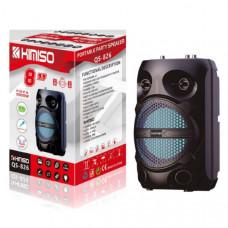 Активная напольная колонка KIMISO QS-826 Black Bluetooth, USB, MicroUSB, AUX Размер: высота 40см, диаметр 25 Дюйм динамика 8 В комплекте: пульт, микрофон.