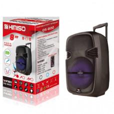 Активная напольная колонка KIMISO QS-800 (цвета в ассортименте) Bluetooth, USB, MicroUSB, AUX Размер: высота 44х ширина 27х глубина 21 Дюйм динамика 8 В комплекте: пульт, микрофон.