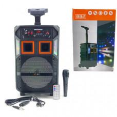 Активная напольная колонка SP-801 Bluetooth, USB, MicroUSB, AUX Размер: высота 43х ширина 26х глубина 22 Дюйм динамика 8 В комплекте: пульт, микрофон.