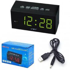 Часы настольные VST 772-2 Зеленые (без блока) Размер: 115х55х50 мм