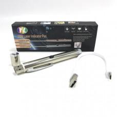 Лазерная указка Pointer YL-1911 Цвет луча: зеленый Выходная мощность: 5 mW Размеры: 1.4 x 12,8 см Дальность луча: до 3000 м (в полной темноте) Длина волны: 532nm Диаметр луча: 1,1 мм Питание:аккумулятор Зарядка:USB, microUSB