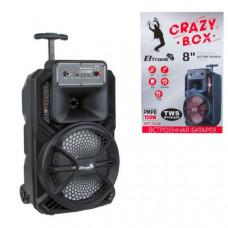 Активная напольная колонка CRAZY BOX ELTRONIC с TWS (EL20-28) Размеры: Ширина - 27 см Высота - 35 см Глубина - 22 см  Bluetooth - FM - Внешний накопитель - Aux Мощность: - RMS 15 Ватт - PMPO 150 Ватт - Диапазон частот 100Hz-20KHz Питание: - Micro USB 5V -