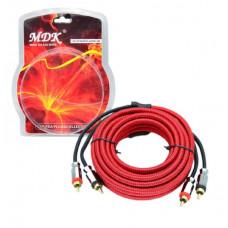 Набор кабелей для автоакустики MDK MJ-7 (2RCA-2RCA, 5м)