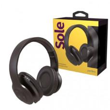 Гарнитура беспроводная полноразмерная Bluetooth Perfeo SOLE (PF_A4906) черные с микрофоном