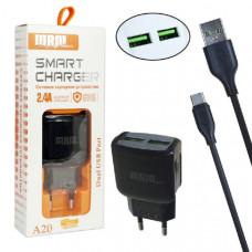 СЗУ-2 USB Type-C MRM MR-A20 5V/2.4A (Black)