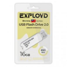 USB флеш-диск 16Gb Exployd 650 белый