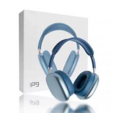 Гарнитура беспроводная полноразмерная Bluetooth P9 Blue Разъем: microUSB, AUX. Корпус: материал пластик.