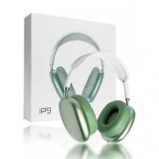 Гарнитура беспроводная полноразмерная Bluetooth P9 Green Разъем: microUSB, AUX. Корпус: материал пластик.