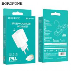 СЗУ-USB-C BOROFONE BA38A Plus PD 3A White