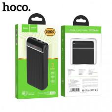 Внешний аккумулятор 20000 mAh HOCO J59A Famous (Black) Вход: Micro-USB / Type-C: 5V-2A, Lightning: 5V-1.5A. Цифровой LED дисплей уровня заряда аккумулятора (включение кнопкой).ABS + PC огнеупорный материал. Размеры: 139х70х28 мм. Вес: 422 г.